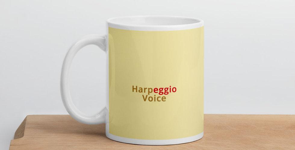 Yellow Glossy Mug With Logo