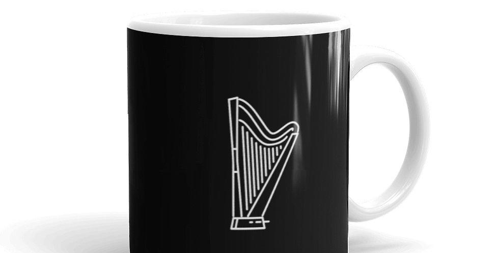 Black Glossy Mug With White Logo