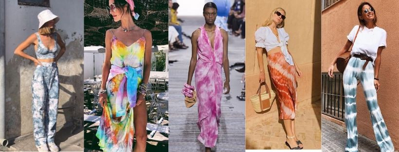STILE TIE DYE TENDENZA MODA ESTATE 2020