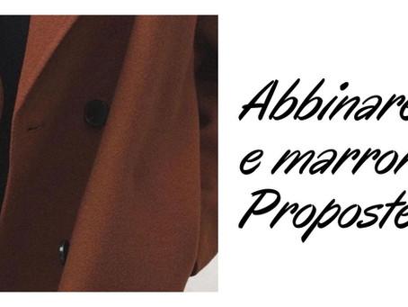 COME ABBINARE NERO E MARRONE