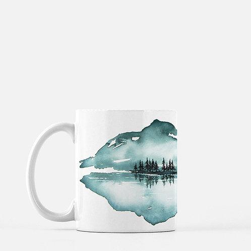 Reflect Watercolor Coffee Mug