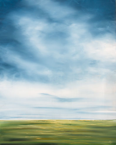 landscape, prairie, painting, farm, country