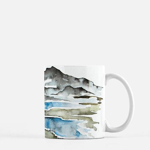 Winding River Watercolor Coffee Mug