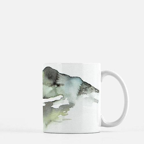 Colorado Mountain Watercolor Coffee Mug