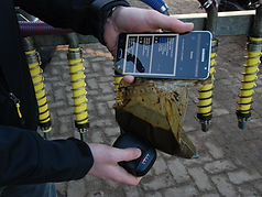 Drijf en drog mest scannen met NIRS handscanner