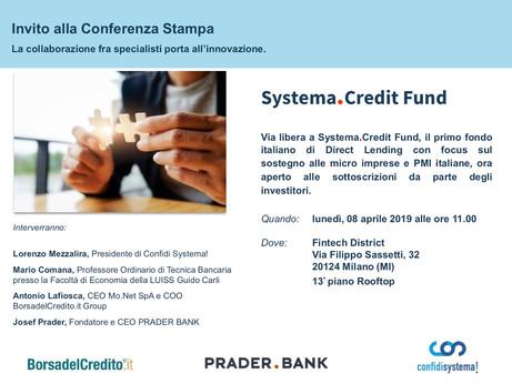 CONFIDI – Via libera a Systema.Credit Fund, il primo fondo italiano di Direct Lending con focus sul