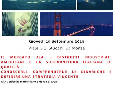 MONZA - Il mercato USA e la subfornitura italiana di qualità