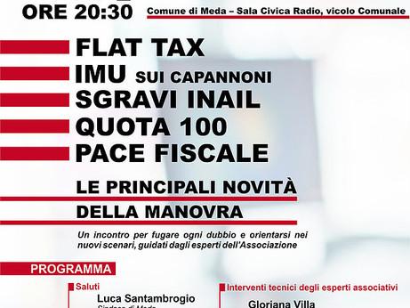 MILANO, MONZA E BRIANZA - Flat tax, pace fiscale, taglio imu sui capannoni, quota 100: un incontro p