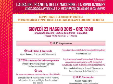 DIGITALE – Il 23 maggio a Milano un evento su competenze e leadership digitali per governare l'i