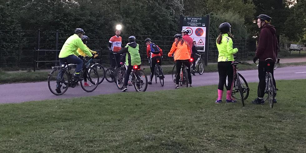 Richmond park after dark family ride