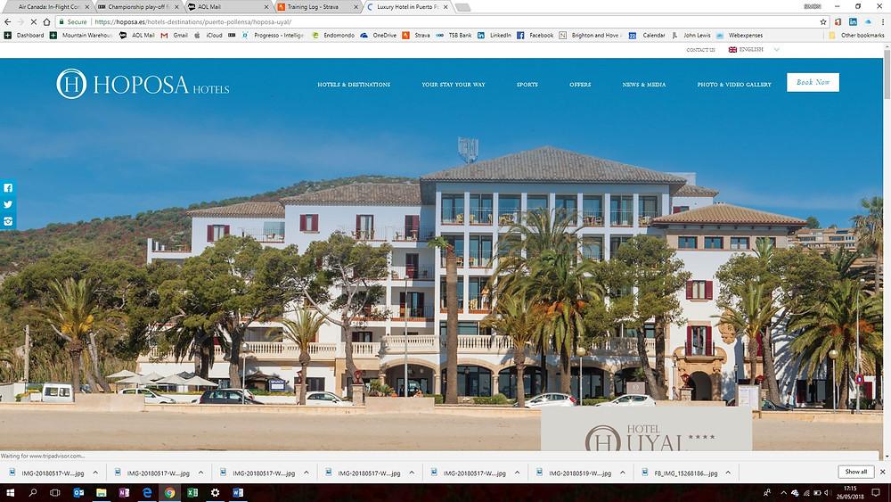 New Malden velo cycling tour, Hotel Uyal, Mallorca