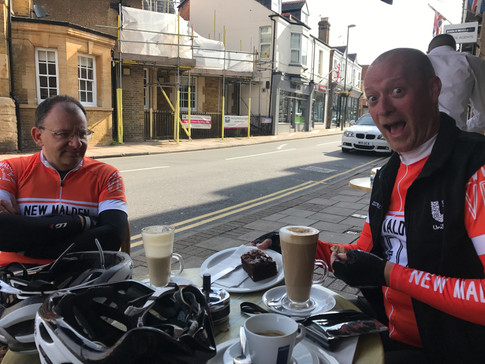 Coffee and cake in Weybridge