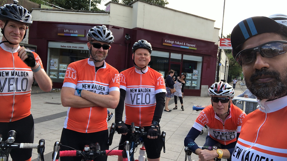 Cyclists from New Malden Velo Cycling club, ready to start the Dunwich Dynamo