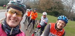 Hayley and Club ride at Boxhill