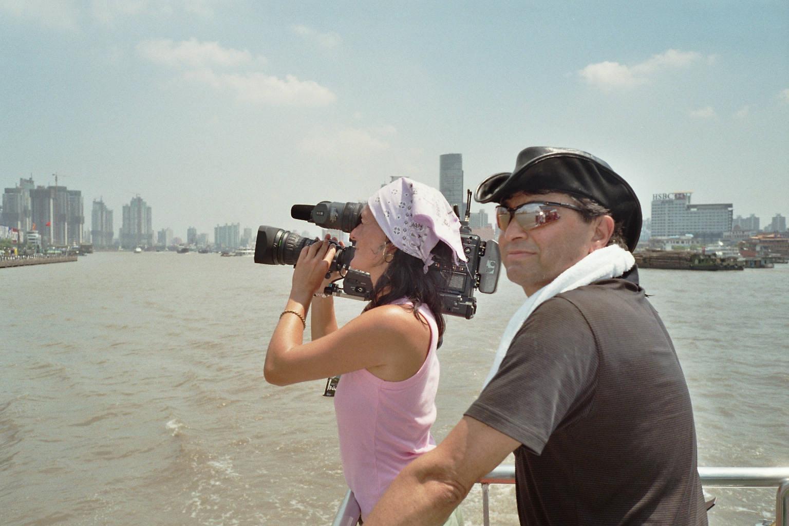 Dreharbeiten in Shanghai