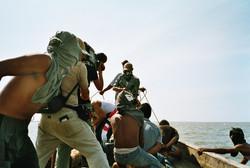Dreharbeit mit Piraten