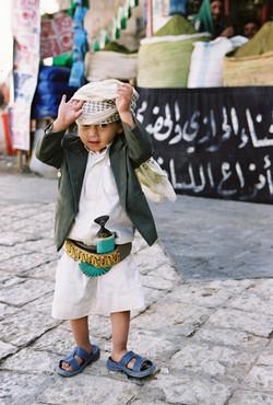 Der Jemen Krummdolch und Kind