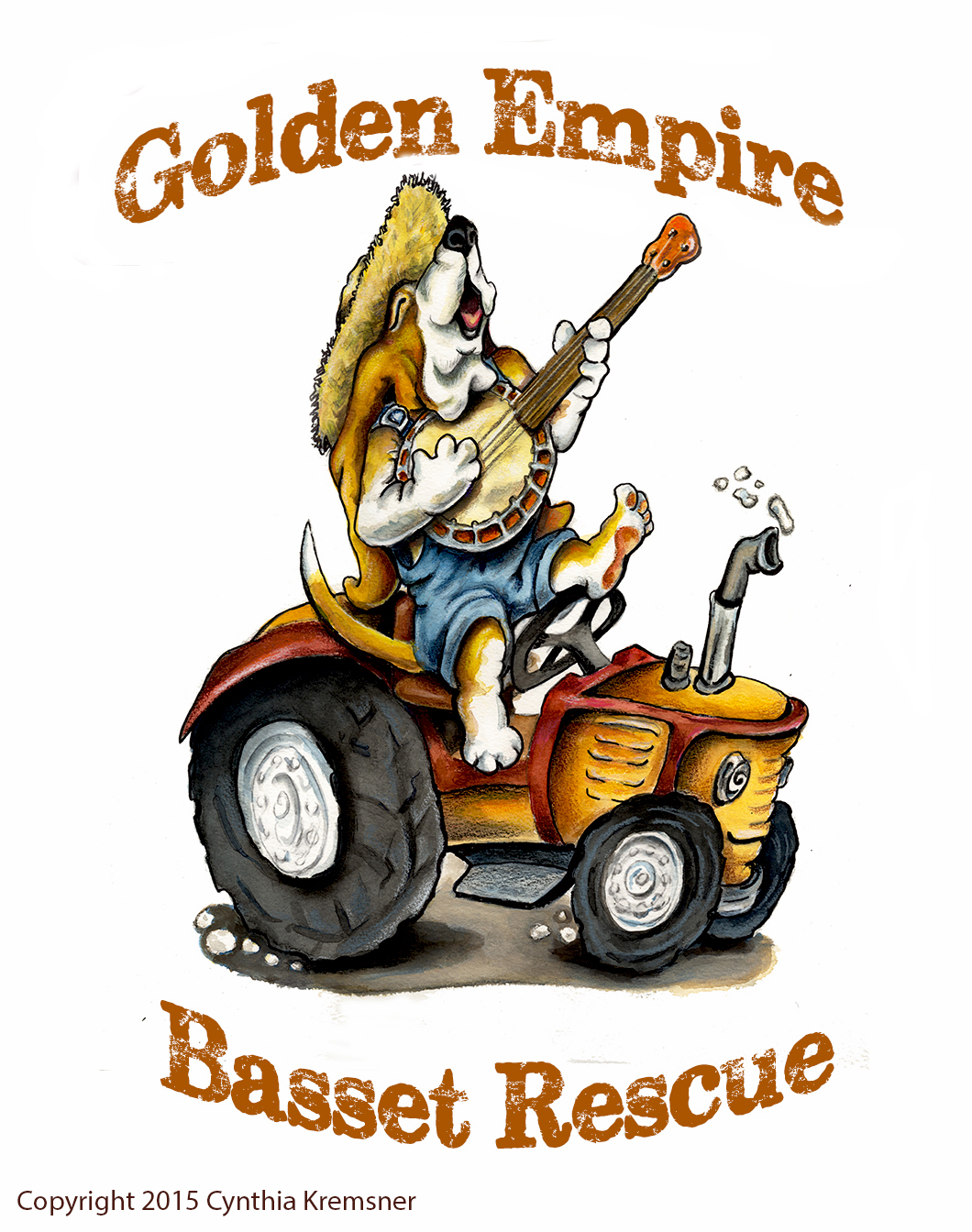 Logo for Golden Empire Basset Rescue