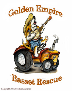 Logo for Golden Empire Basset Rescue