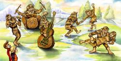 Seven Sasquatch Swinging