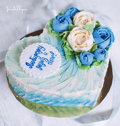 Кремовые торты с цветами