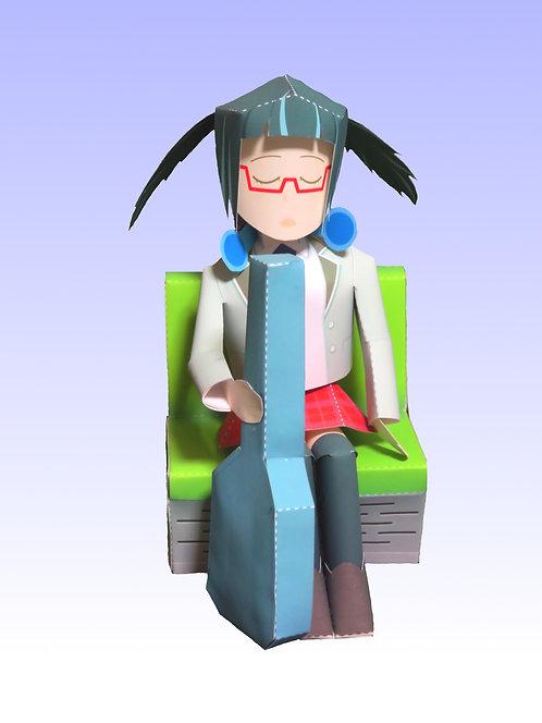 [特2-3] ペーパーフィギュア・小野ミサ