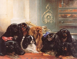 Family Of King Charles Spaniels,1850