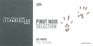"""Pinot Noir """"sélection"""" 2020 (Disponible en octobre 2021)"""