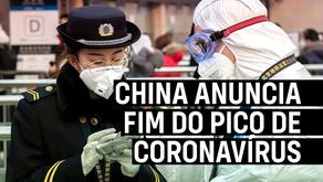 China anuncia fim do pico de coronavírus