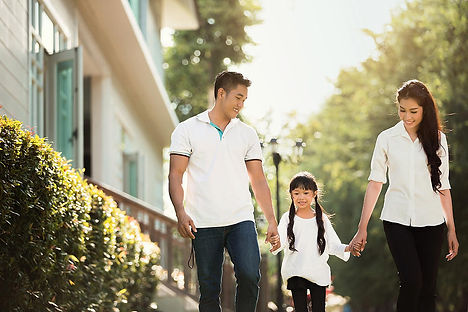asian-family-are-going-out-of-the-house-