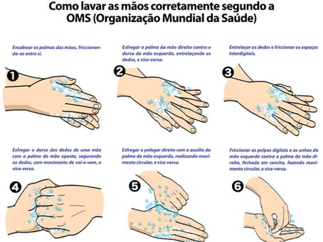 Corona Vírus: como lavar as mãos corretamente