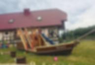 """База отдыха на Ладожском озере """"Порт Кобона"""" Детская площадка."""