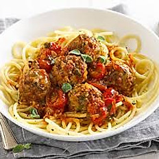 Pasta with Meatball or Sausage