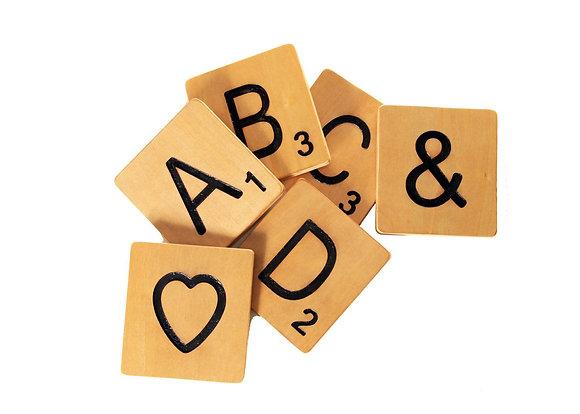Large Scrabble Tiles - Home Decor