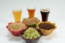 home-brew-ingredients-grain-hops-yeast-water-brewed-beer-showing-different-color-beer-different-grai