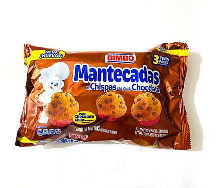 Mantecadas Bimbo with chocolate chips 3 twin pack