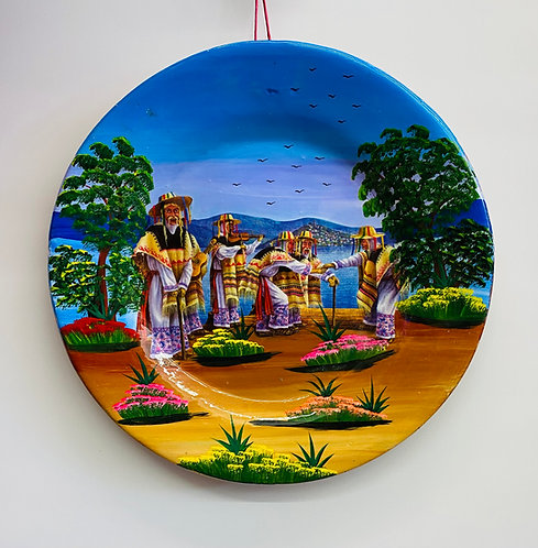 Mexican Decorative Plate hand painted 39cm