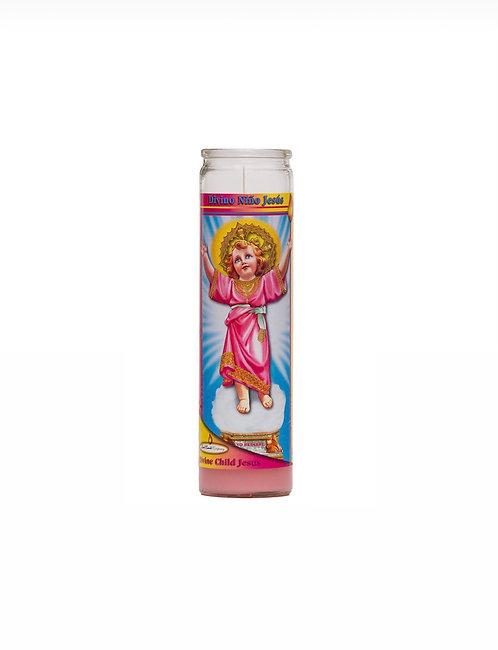 Veladora Divino Niño Jesús 20cm