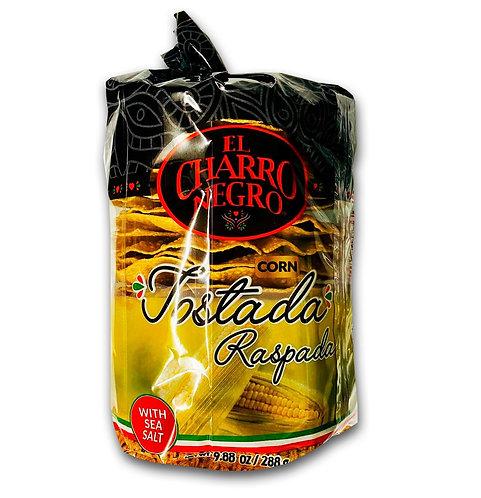 Corn tostadas El Charro Negro