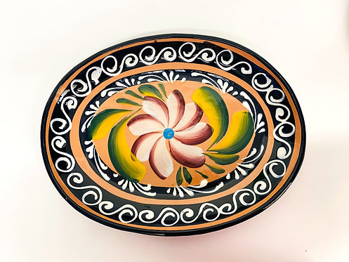 Hand Painted Mexican Plate 31cm (oval)
