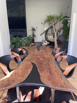 Custom sycamore dining table.