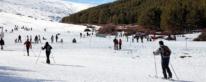 Pistas de esquí de fondo del Puerto de la Ragua. Laroles