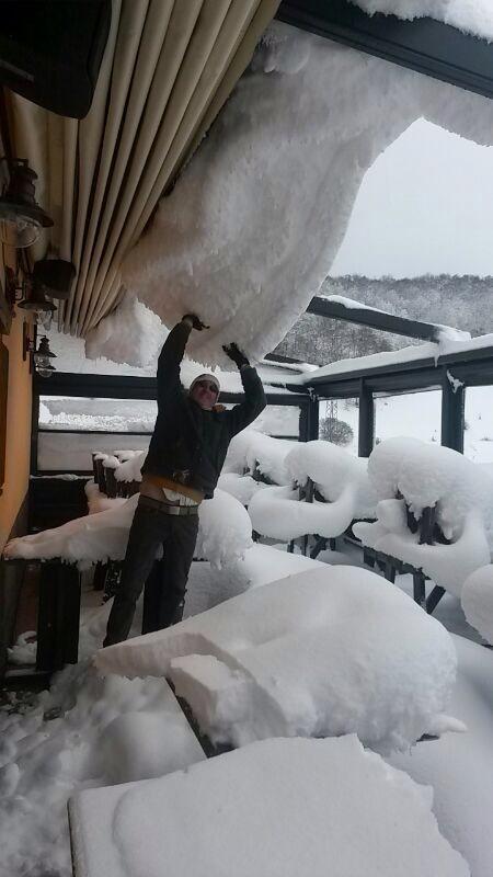 Walter sotto la neve