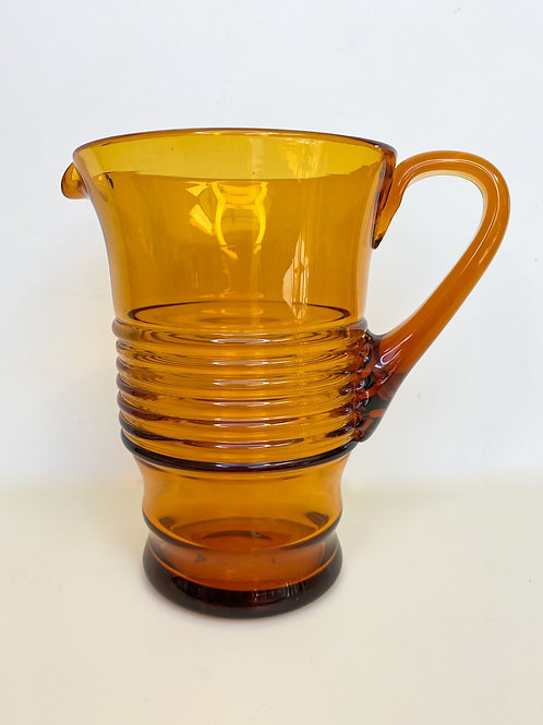 1950s 60s Vintage Glass Jug