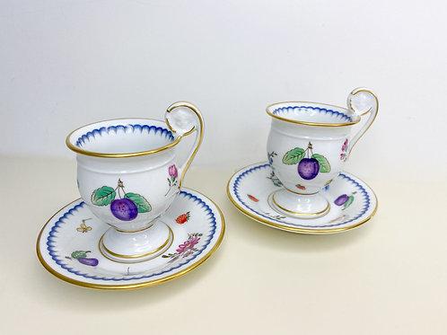 Richard Ginori Italian Fruit Coffe Cups