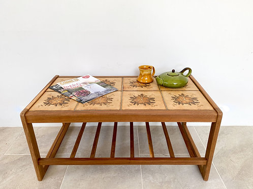 1960s Tile Topped Coffee Table