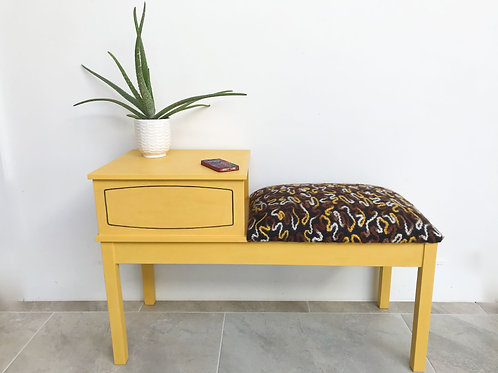 1970s Telephone Table with Mobile Upgrade