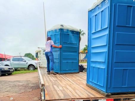 Feira do Jardim do Ingá recebe seis banheiros químicos
