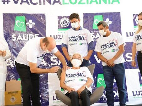 43% da população adulta de Luziânia já recebeu pelo menos uma dose de vacina contra a covid-19