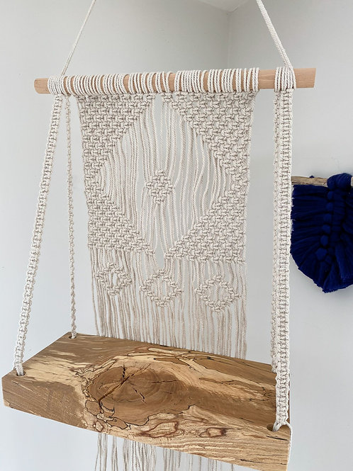 Macrame Hanging Shelf with Natural String
